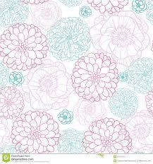 vector background modern pattern pink blue flowers lineart seamless pattern stock vector