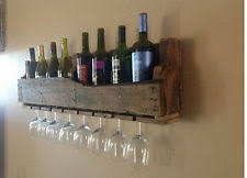 pallet wine rack wall mounted made from rustic reclaimed wood 8