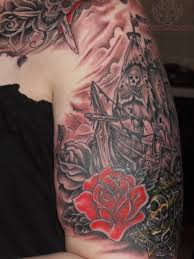 pirate ship roses and butterfly tattoos page photos pictures