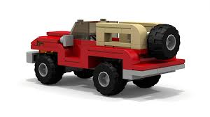 lego jurassic park jeep lego 4x4 jeep lego moc instructions custom lego sets