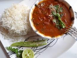 cuisine indienne riz sauce au jus de haricots nains avec du riz une cuisine