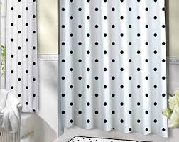 Black Polka Dot Curtains Innovative Ideas Black And White Polka Dot Shower Curtain