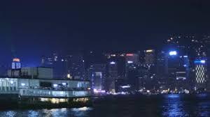 hong kong light show cruise neon lights around cruise ship in hong kong 4k stock video footage