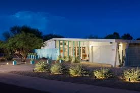 Glass Wall House by Front Elevation Mcm Mid Century Modern Contemporary Glass Wall
