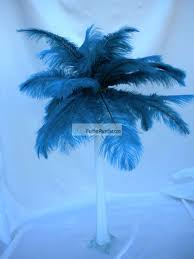 Ostrich Feather Centerpieces Wholesale by Teal Ostrich Feather Centerpieces Feather Plume Palm Tree 6 Sets