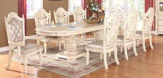 antique white dining room set round table furniture company chairs