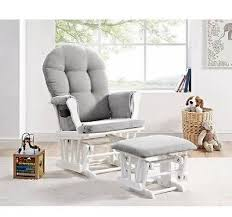 Rocking Chair With Ottoman For Nursery Nursery Glider Rocker Rocking Chair Ottoman Set White Baby Grey