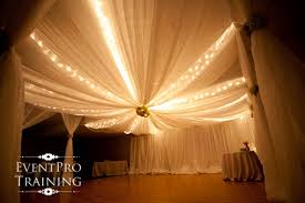 draped ceiling gossamer draping fabric for weddings and events
