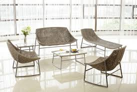 Cheap Patio Furniture Houston by Charming Curved Modern Wicker Patio Furniture With Glass Coffee