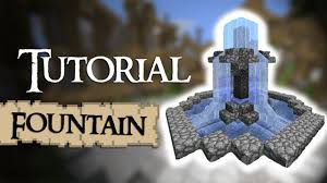 minecraft tutorial how to build a small fountain youtube
