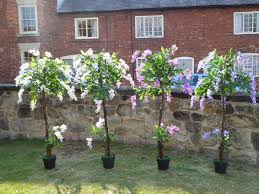 5ft artificial wisteria tree with flowers in a pot artificial