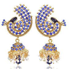 jhumkas earrings peacock jhumkas earrings on offer for s jhumka