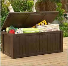 keter deck box 150 gallon keter pacific wicker style waste bin