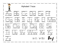 trace alphabet letters for children activity shelter printable kid