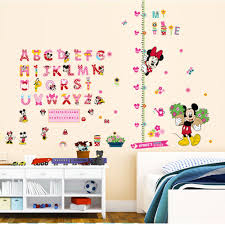 mickey mouse wall stickers for bedroom kids promotion shop for cartoon minnie mickey mouse alphabet wall stickers nursery kids living rooms bedroom home decor 3d pvc wall decals