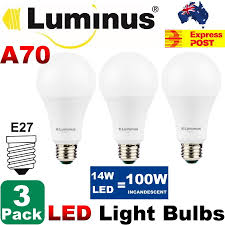Luminous Led Light Bulbs by 3 Pcs Luminus A70 14w 100 Watt Equal Led Light Bulbs E27 4000k