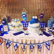 football themed baby shower candy table glam candy buffet