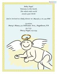 Angel Decorations For Baby Shower Free Printable Baby Shower Invitations Lovetoknow