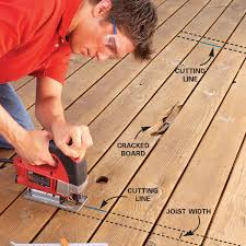 How To Fix A Piece Of Laminate Flooring Repairing Decks And Railings Family Handyman