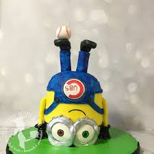 bob the minion cake baseball cake despicable me minions party