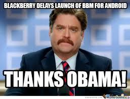 Thanks Obama Meme - bbm for android thanks obama by sgtdeathadder meme center
