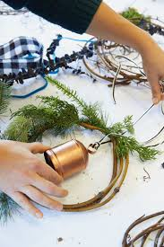 modern christmas wreath ideas fresh ways to welcome the holidays