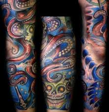 colored tribal sleeve tattoos colored tribal tattoos colorful