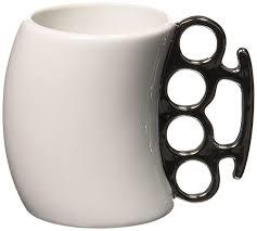 amazon com fred fisticup ceramic knuckleduster mug coffee cups