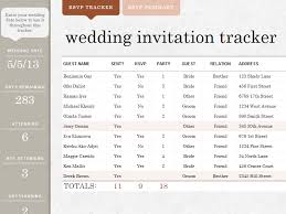 Wedding Invitation Excel Template Wedding Invite Tracker Templates Awesome Works Great