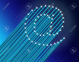 fiber optic light strands illustration depicting many illuminated blue fiber optic light