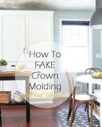 how to install crown molding on kitchen cabinets my diy kitchen cabinet crown molding how to fake the look without
