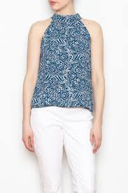 printed blouse olivaceous halter neck printed blouse from york by gado gado