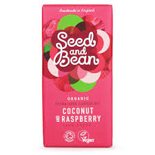 organic extra dark chocolate coconut u0026 raspberry seed u0026 bean