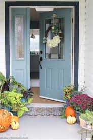 easy u0026 vibrant fall front porch decor the happy housie