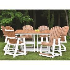 Counter Height Patio Dining Sets - berlin gardens comfo back 6 seat counter dining set