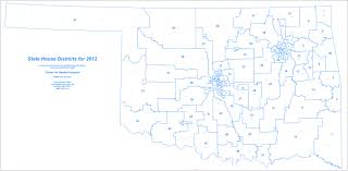 Map Of Oklahoma State by Csa Maps