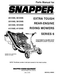 snapper lawn mower 3012x6s user guide manualsonline com