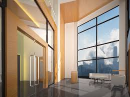 entry foyer for office building