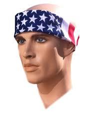 Black American Flag Bandana Com Costume Adventure American Flag Bandana Headband Us Bandana
