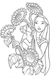 princess pocahontas coloring pages print coloringstar