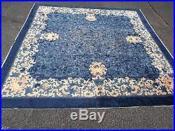 Antique Chinese Rugs Auth 30 U0027s Antique Art Deco Chinese Rug Square Blue 9 9 Clouds