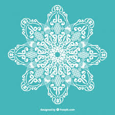 lace with floral ornaments vector free