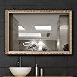 Gold Bathroom Mirror by Amazon Com Gold Wall Mounted Mirrors Mirrors Home U0026 Kitchen