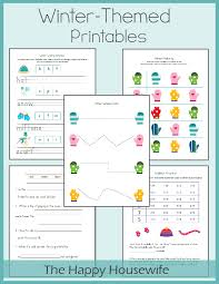winter worksheets free printables the happy housewife home