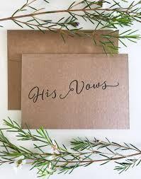 wedding vow cards wedding vow card his vows wedding vow keepsake wedding