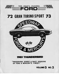 1973 ford torino speedway newsletter information on collecting