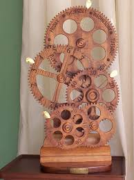 wooden gear clock plans from hawaii by clayton boyer lisaboyer