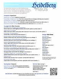 german cuisine menu s germany comes to ravenna heidelberg haus menu revealed