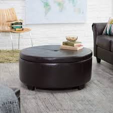 Tufted Leather Cocktail Ottoman by Large Leather Ottoman Storage Modern Wood Coffee Table Reclaimed