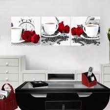 toile de cuisine cuisine abstraite peintures à l huile triptyque peinture mur